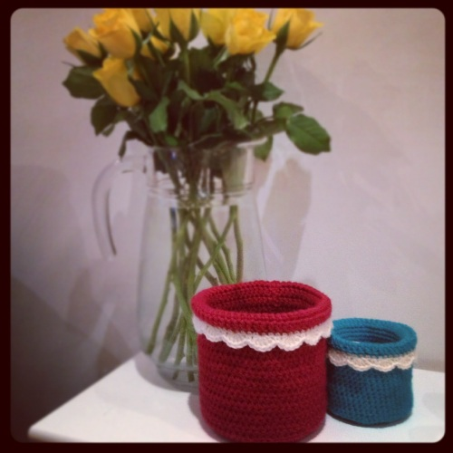 Crochet Pots http://www.acraftyginger.com