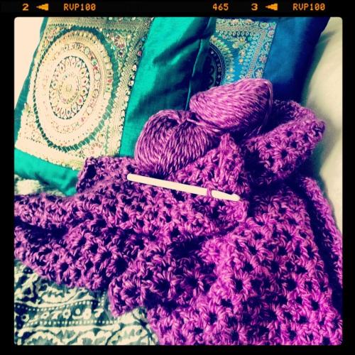 Crochet Purple Scarf http://www.acraftyginger.com