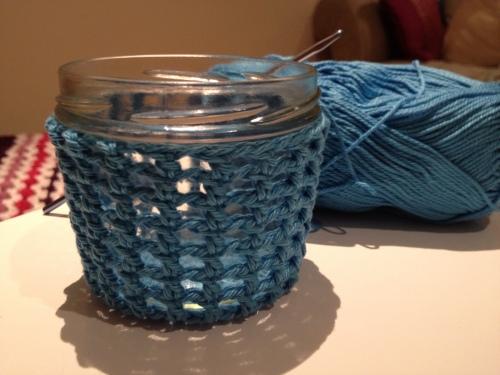 Crochet Candle Holder Tutorial http://www.acraftyginger.com
