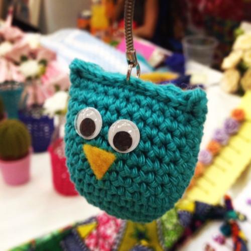 #backyard #market #acraftyginger #crochet #owl #keyring