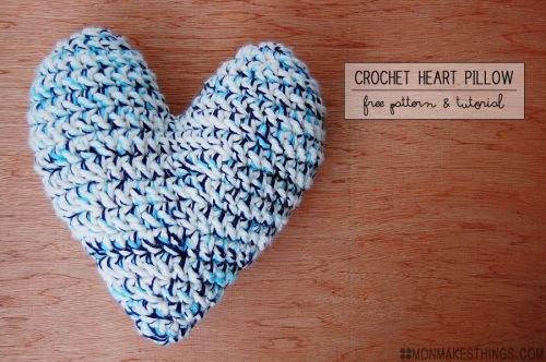 corazon crochet cojin ganchillo trapillo